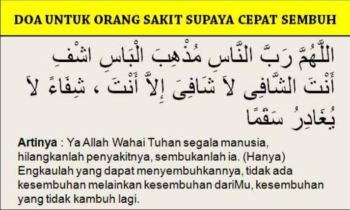 Setiap Penyakit Ada Ubatnya Rasulullah Saw Mengajarkan Doa Doa Untuk Penyakit Tertentu Islam Itu Indah