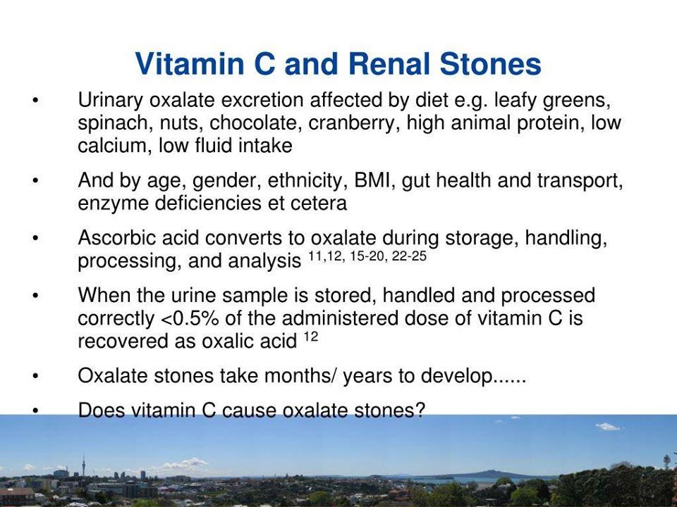 Mitos Vitamin C Punca Kepada Penyakit Batu Karang